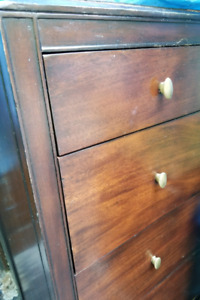 Cherry Dresser w. Cedar lined Drawers $180/2Pine Shelves$120