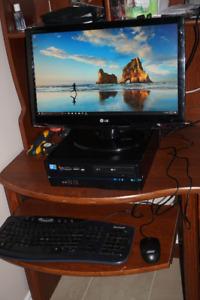 Mini Gaming Desktop- i3,8gb,500gb,ATI,WiFi,Win10,Office,23''