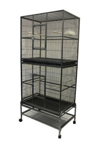 Double Stacked Flight Cage Bird Parrot Dove Pigeon Sugar Glider