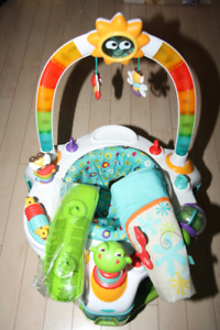 2 in 1 baby exerersaucer with music sound and color lighting