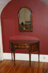 Antique Mahogany make-up table and chairs