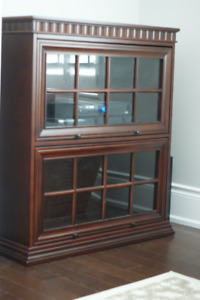 Bombay Barrister Glass Door Solid Wood Bookcase