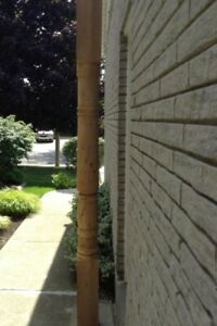 Porch Post milled by the  Mennonites