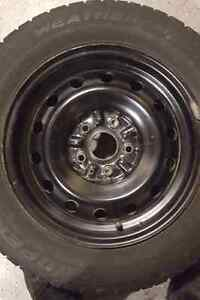 "Winter tires and rims 15"", 205/65R15 Cambridge Kitchener Area image 2"