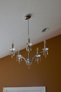 Chrome & Crystal 5-Light Chandelier