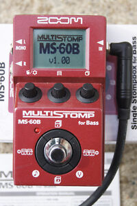 Zoom MS-60B MultiStomp Bass Guitar FX Pedal - LIKE NEW!