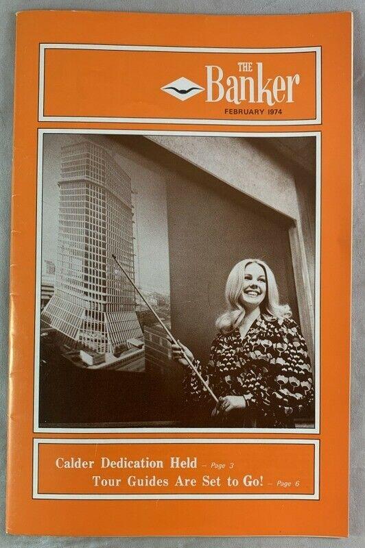 Feb 1974 The Fort Worth National Banker Bank Employee Magazine Calder Sculpture