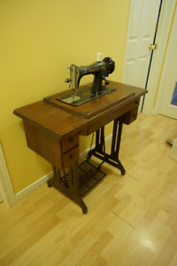 Singer electric sewing machine and cabinet
