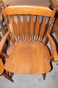 Huge Roxton dining table + 5 chairs - REDUCED