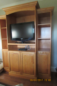 Moving Sale - Custom Built Maple TV or Display cabinet