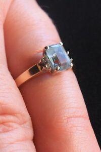 14K Blue Tourmaline Ladies Ring. London Ontario image 1