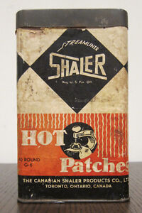 Vintage Shaler Streamliner Hot Patches Container