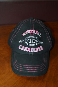 Montreal Canadiens Baseball Cap (with pink trim)