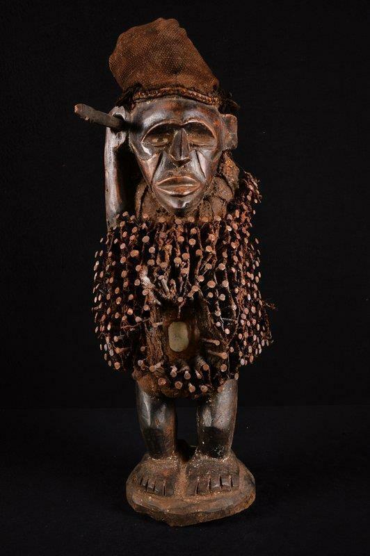 14403 African Old Bakongo Figure/Figure Dr Congo