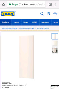 5 Ikea Cover Panels (Forbattra) - Off White