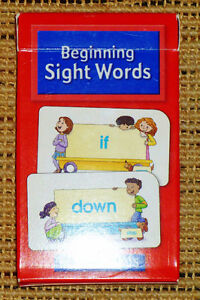 ✪ SCHOOL ZONE - Beginning Sight Words Flash Cards - LIKE-NEW