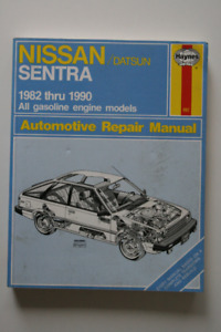 NISSAN Datsun Sentra 1982-1990 Repair Manual Haynes