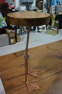 Unique Side table with hand crafted Duck table legs London Ontario image 4