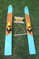 Old Water Skis manufactured by Lakefield Boats Ltd -circa 1958