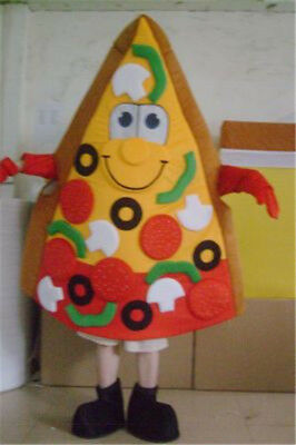Pizza Mascot Costume Advertising Restaurant Suit Fancy Cosplay Adult Party Dress