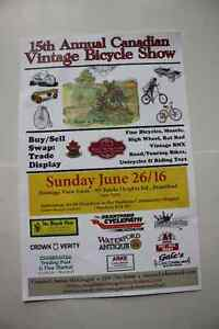 15th Annual Canadian Vintage Bicycle Show Sunday June 26/16