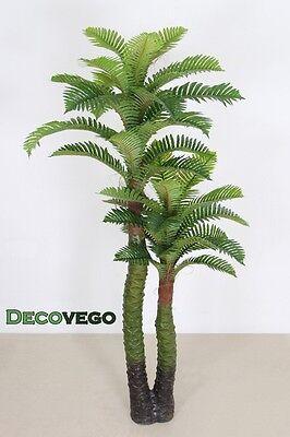 Cocco Palmizio Palma Pianta Albero Artificiale Plastica 140cm Decovego