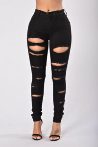 (Brand New) Selling Ripped Black Low Waist Jeggings