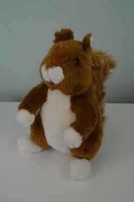 Squirrel Plush Stuffed Animal Toy Brown White 11.5