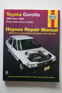 TOYOTA Corolla 1984-1992 Repair Manual Haynes