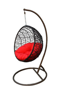 Hanging Patio Swing Chair Outdoor / Indoor Egg Chair All Ages