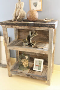 RUSTIC BOOKCASE, BOOKSHELF, HANDCRAFTED FROM RECLAIMED BARNBOARD