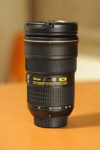 like new nikon AF S 24 70 2.8 G ED N standard zoom lens