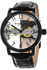Stuhrling Original Mens 680.01 Legacy Mechanical Bridge Watch