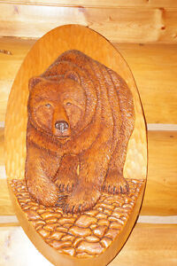 "COMMISSIONED PIECE ""THE GRIZZLY"" WOOD CARVING"