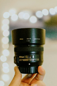 Selling my Nikon 50mm f1.8 and 18-55mm