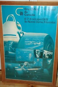 Grand Prix du Canada Poster - Original 1978 West Island Greater Montréal image 1