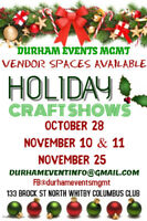 HOLIDAY CRAFT & VENDOR SALE - OCT 28