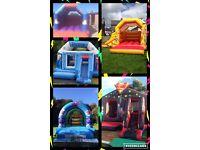 PARTY PIECES BELFAST,, superhero bouncy castle Peppa pig castle little mermaid castles for hire