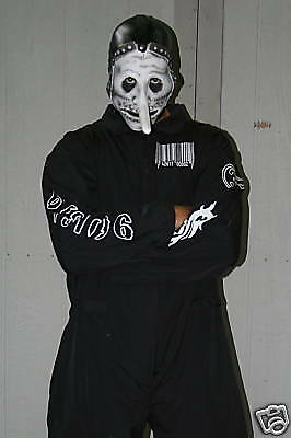 Slipknot 1st Tour (Black) Jumpsuit Black&White Barcode NEW! *You Pick The Size*