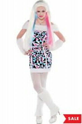 Complete Monster High Abbey Bominable Costume and Wig  Medium 8-10 NIP (Monster High Costumes Abbey)
