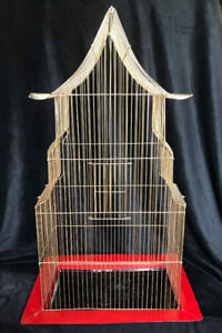 Exotic antique gilded bird cage