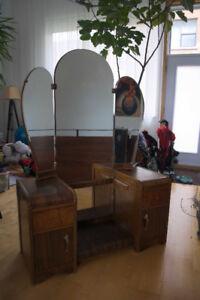 Coiffeuse antique art déco Vanity Dressing Table