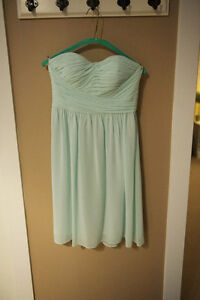 Donna Morgan Strapless Sweetheart Chiffon Bridesmaid Dress