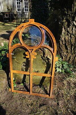 Eisenfenster, Stallfenster Kirchenfenster Rundbogen, Fenster für Gartenmauer