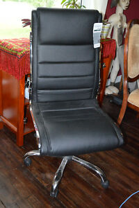 New Black and Chrome Office Chair