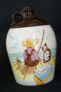 "Canuck Cookie Jar "" Boy Fishing"""