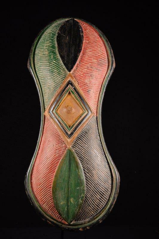 13653 African Large Songye Shield Mask / Mask Dr Congo