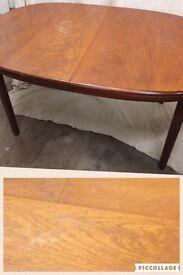 Mid century table teak vintage retro extending