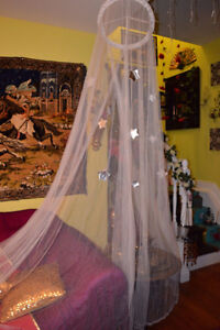 SUPER CUTE Star Lace Mosquito Net Canopy Twin Full Queen King Be