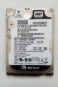 320GB / 500GB HDD - SATA Hard Drive for Laptop/Notebook